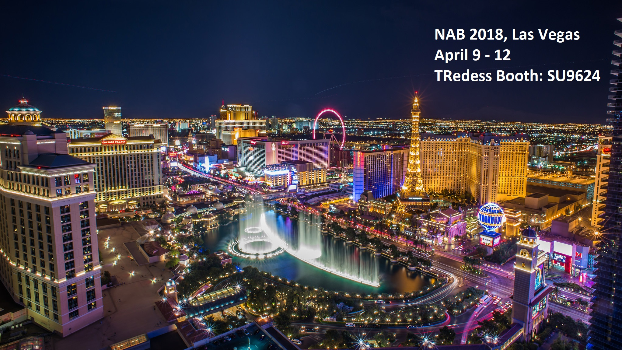 TRedess will participate at NAB Show, Las Vegas